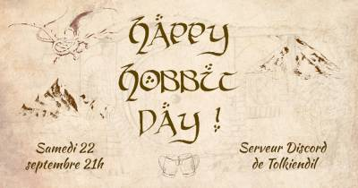 Hobbit Day sur Discord le 22 septembre 2018