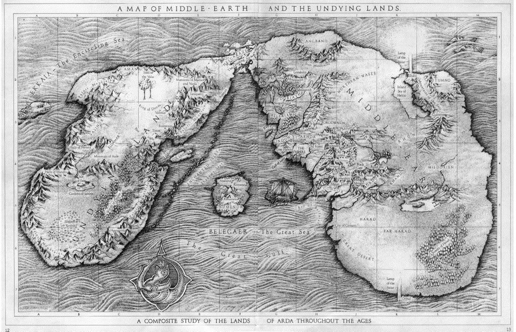 Carte Terre Du Milieu Premier Age.Pourquoi La Carte De La Terre Du Milieu Et Des Terres