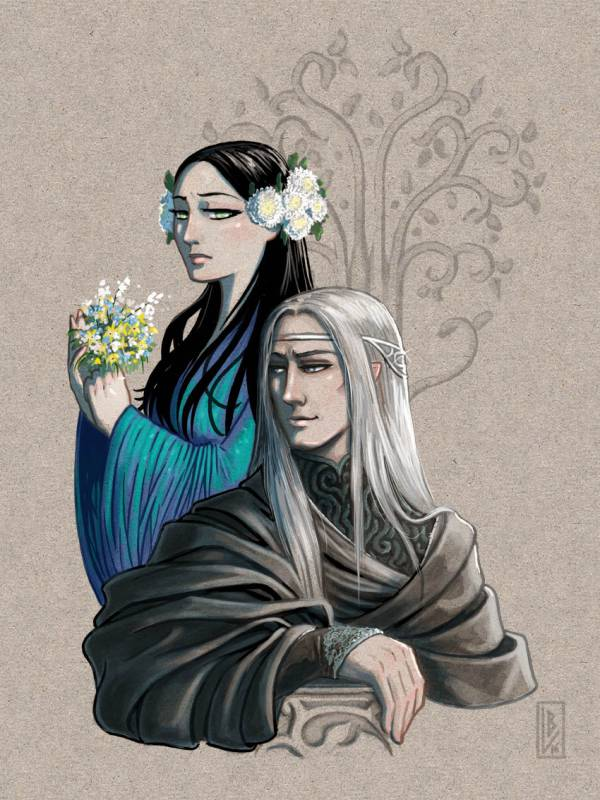 Melian et Thingol – Leslie Boulay