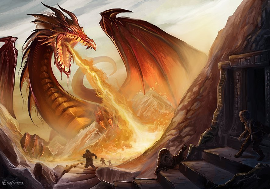 Smaug le Dragon - Evolvana