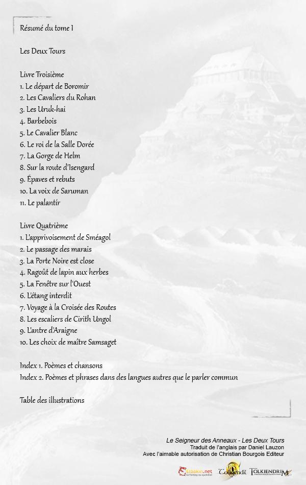 gamme complète de spécifications magasin officiel quantité limitée Le Seigneur des Anneaux – Les Deux Tours – Sommaire - Tolkiendil