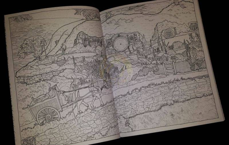 Le seigneur des anneau la trilogie livre de coloriage - Dessin seigneur des anneaux ...